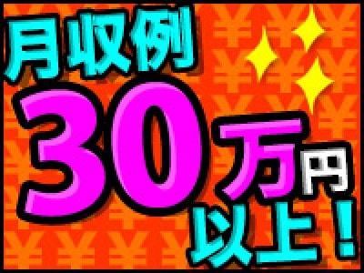 月収例30万円以上!