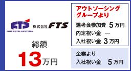 FTS 選考会参加費13万円