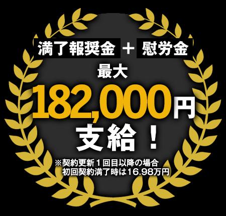 最大182,000円支給!