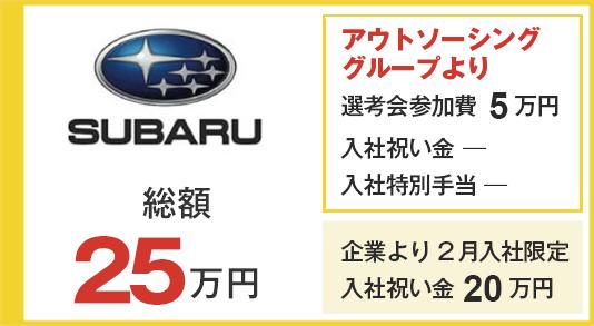 スバル 選考会参加費5万円